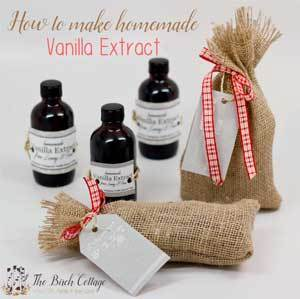 How to make homemade vanilla extract by The Birch Cottage