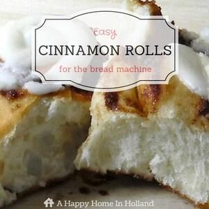 Breadmaker Cinnamon Rolls Recipe
