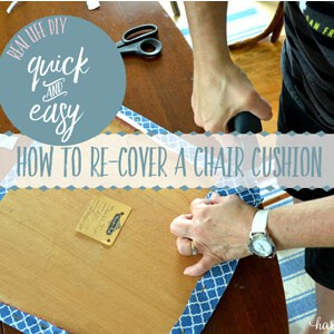 How to Recover a Chair Cushion