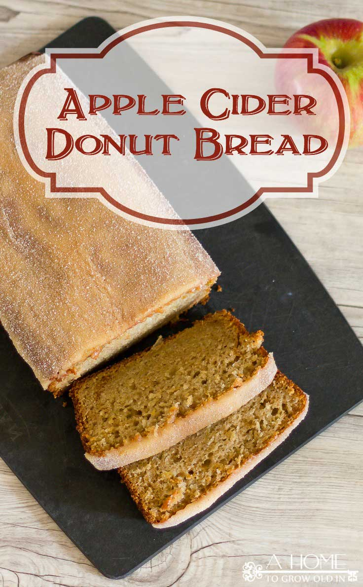 This apple cider donut bread recipe is a delicious twist on a New England fall classic! The bread is so moist, and the apple cider glaze with cinnamon sugar topping is mouthwatering! This is definitely one you'll want to pin for later!