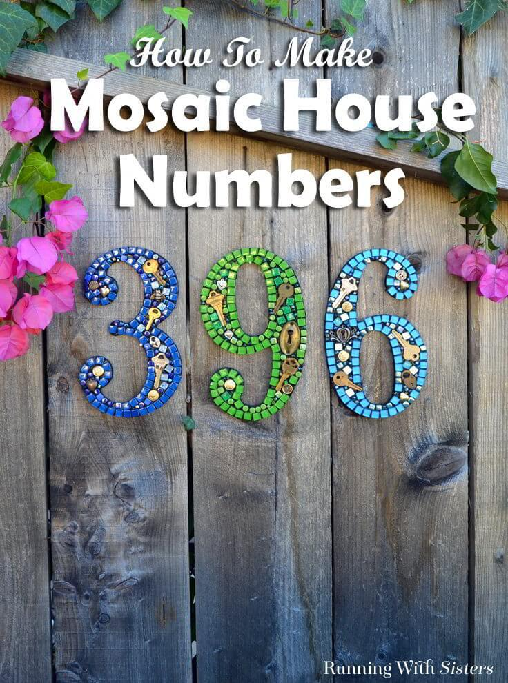 How to make mosaic house numbers