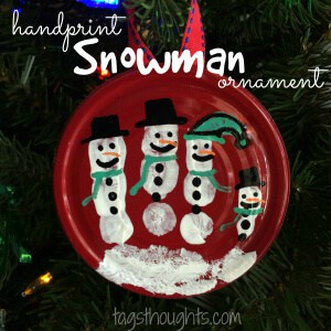 Upcycled Handprint Snowman by Trish Sutton