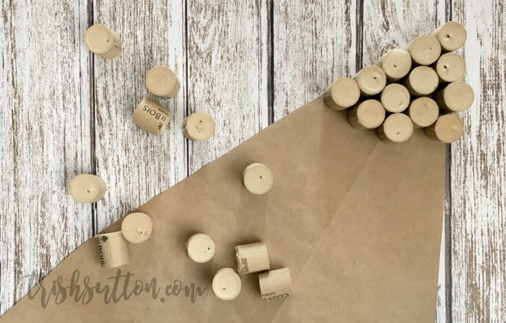 Wine Cork Christmas Tree Wall Hanging; Upcycled Holiday Decor by Trish Sutton