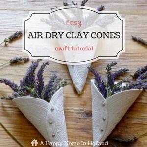 air-dry-clay-cones-tutorial