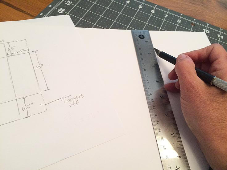 Measuring the dimensions of DIY storage boxes