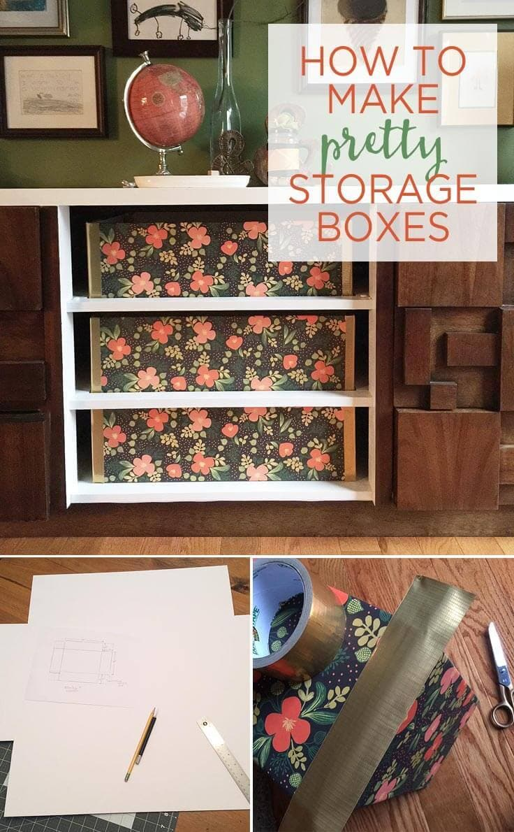 How to make pretty DIY storage boxes for your home office