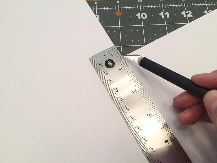 Scoring the sides of the foam core