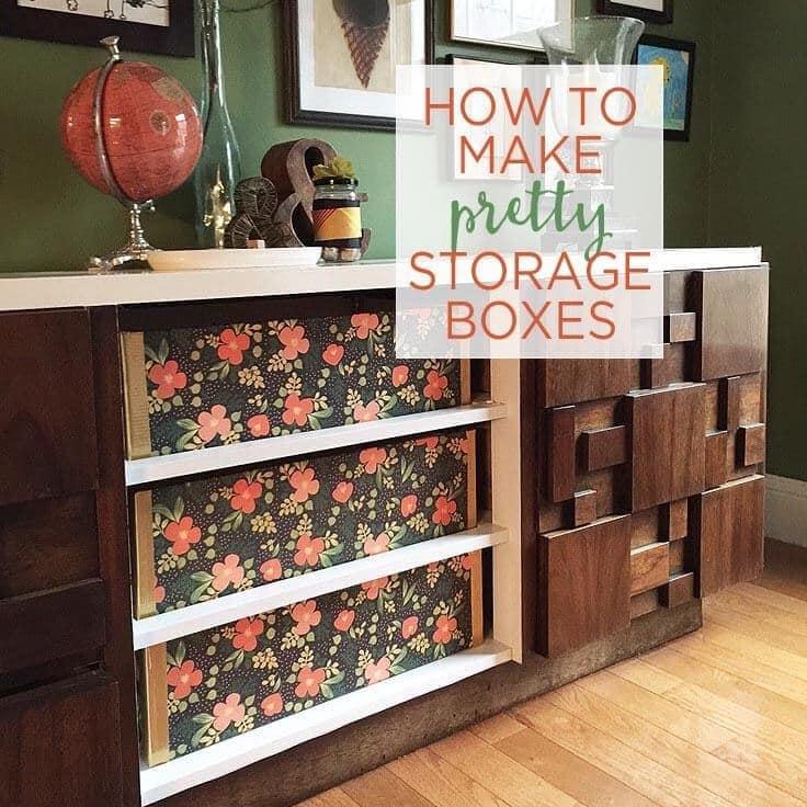 How to make pretty storage boxes