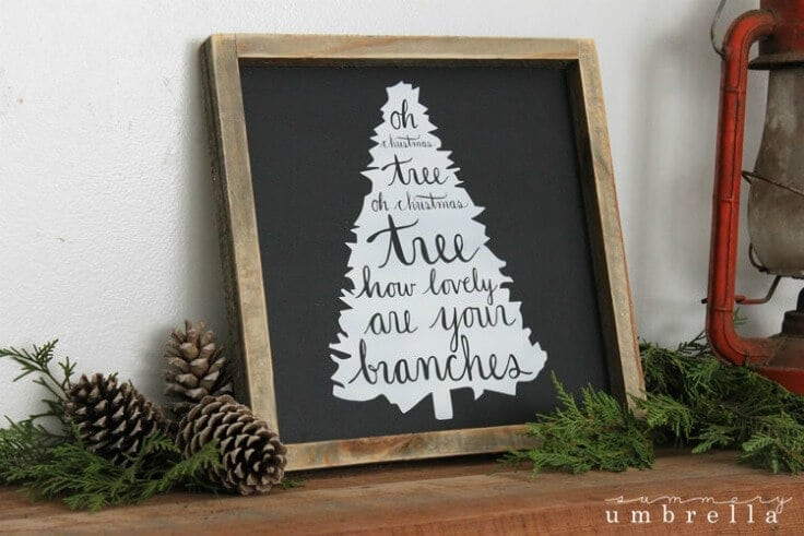 Oh Christmas Tree Wood Sign from The Summery Umbrella featured on Kenarry.com