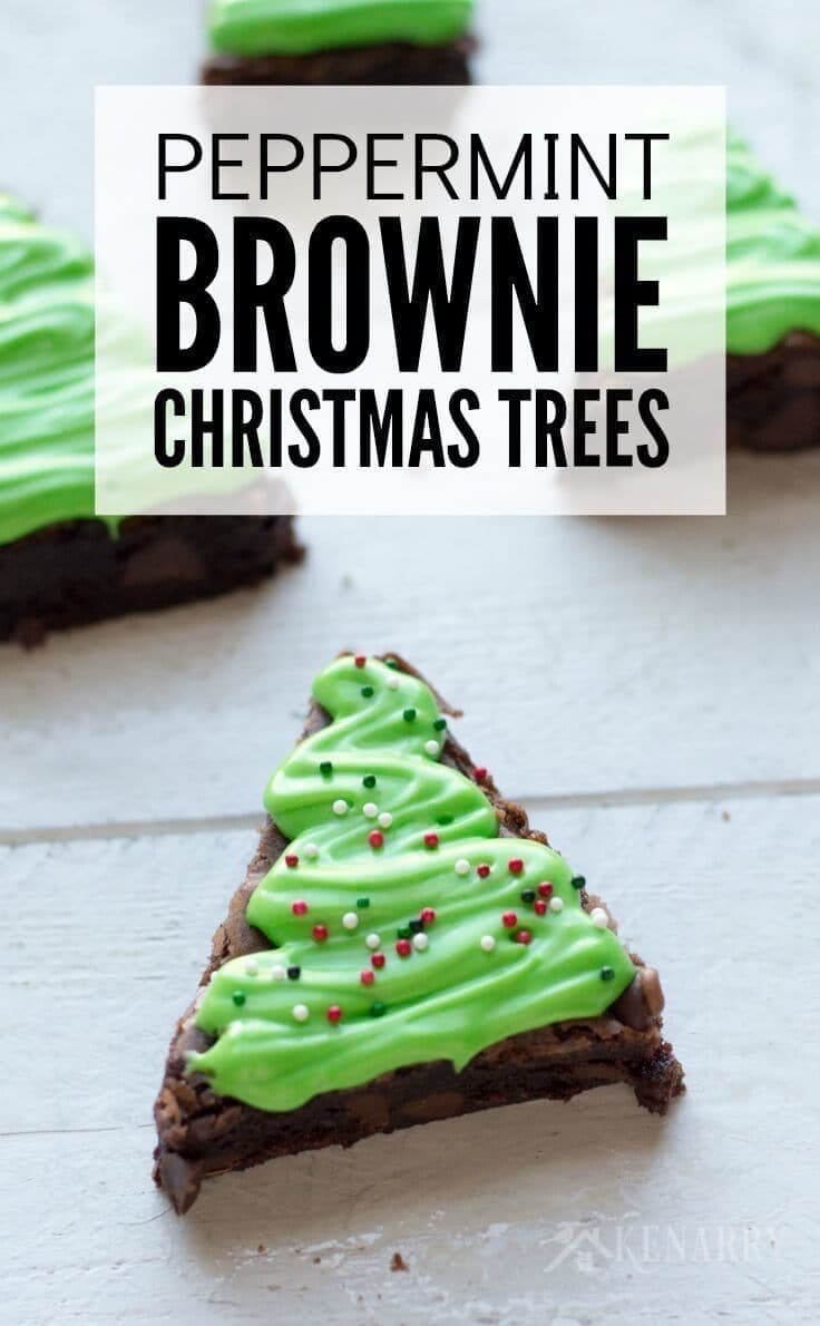 Oh yum! Peppermint Brownie Christmas Trees would be so much fun to bake and decorate with the kids for a holiday party or special treat.