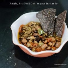Simple, Real Food Chili in your Instant Pot