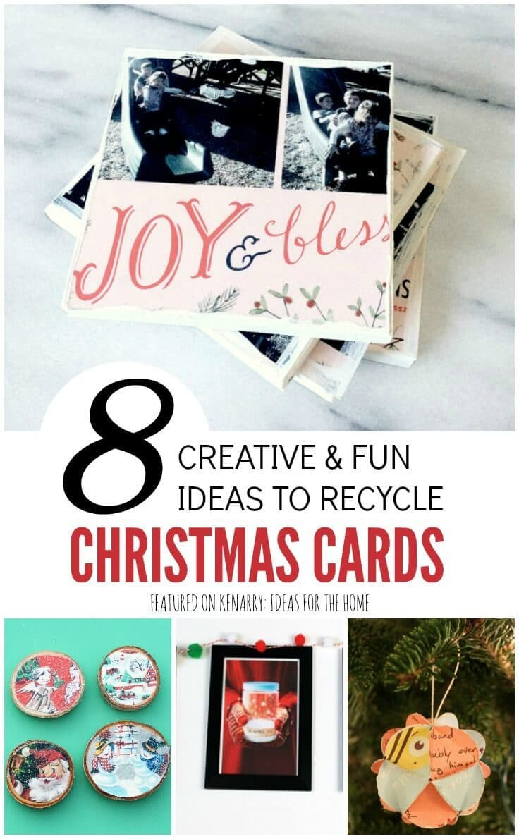 8 creative and fun ideas to recycle Christmas cards