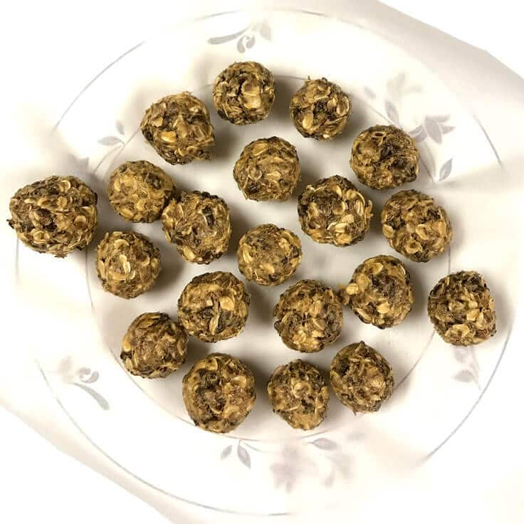 No Bake Energy Bites ready for a healthy snack