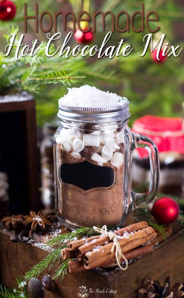 Homemade hot chocolate mix - DIY mason jar gift idea