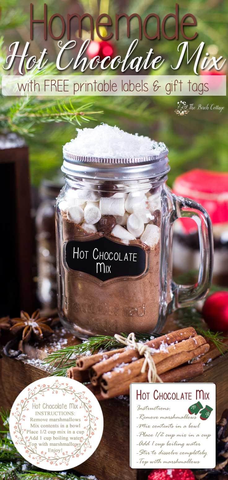 Easy DIY hot chocolate mix in a mason jar