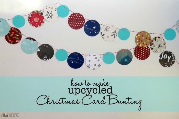 Upcycle Christmas Cards Into Winter Bunting - Average But Inspired featured on Kenarry.com