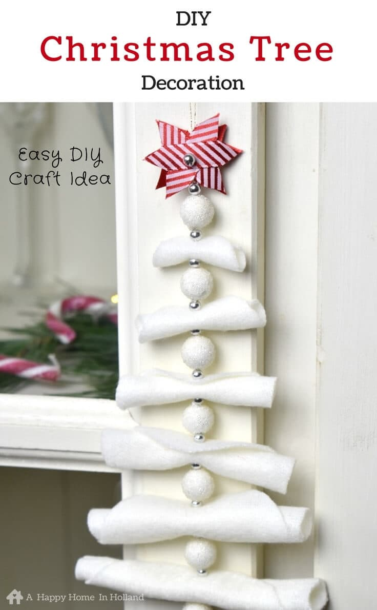 DIY Hanging Christmas Tree Decoration: Simple and Stylish