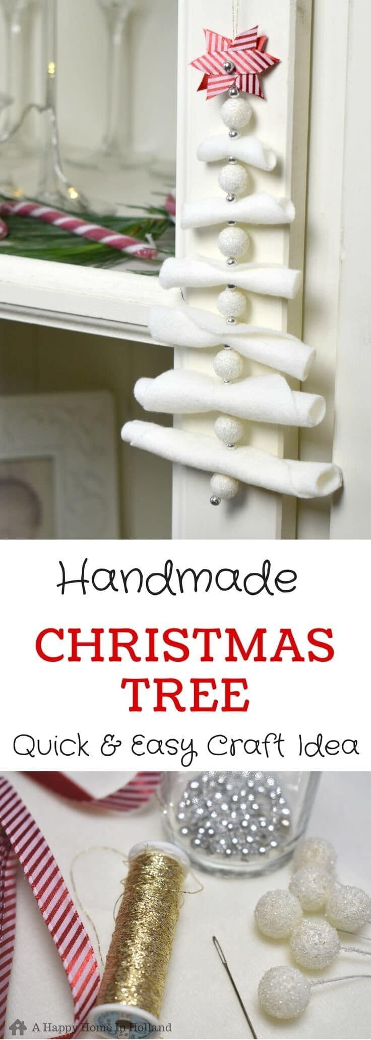 DIY Christmas Tree Decoration - These super cute felt decorations are not only super stylish but quick and easy to make too!