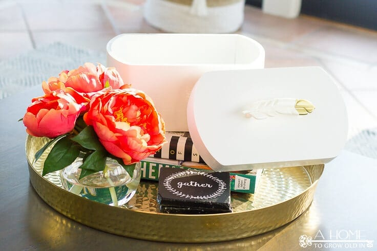 A beautiful white decorative box