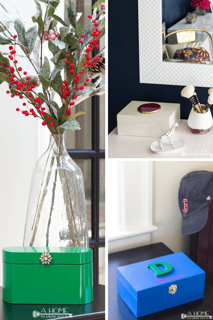 You won't believe just how easy it is to make a pretty decorative box to store all the small items around your home that you don't know what to do with! I love all the different ways you can decorate them! This is one you'll want to pin for later!