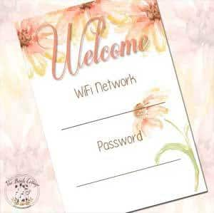 WiFi Password Printable from The Birch Cottage