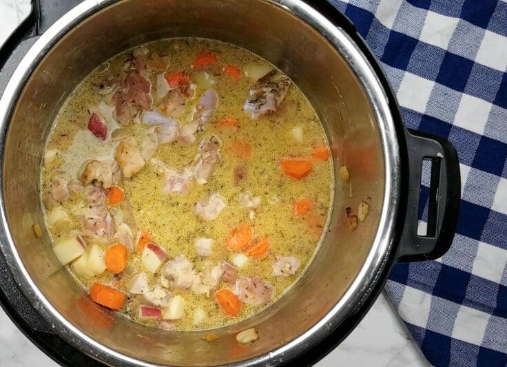Instant Pot Chicken and Dumplings by Rachel Groff