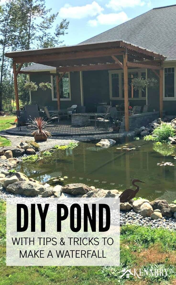 DIY Pond with tips and tricks to make a waterfall