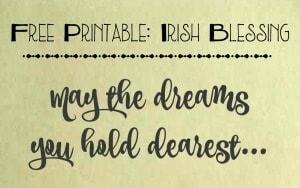 Free Printable: An Irish Blessing By Trish Sutton