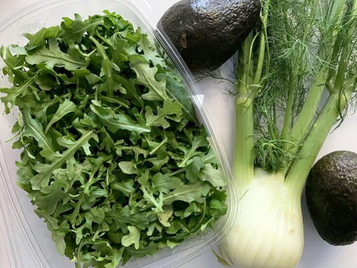 Salad Arugula, Fennel, and Avocado Salad