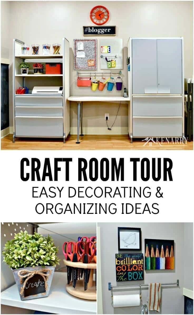 Craft room tour decorating and organizing ideas for Room decor organization