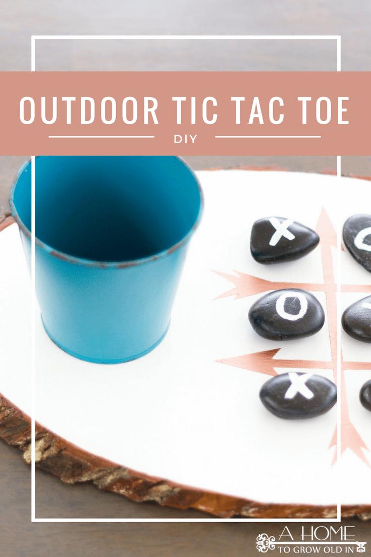 Outdoor tic tac toe DIY game board