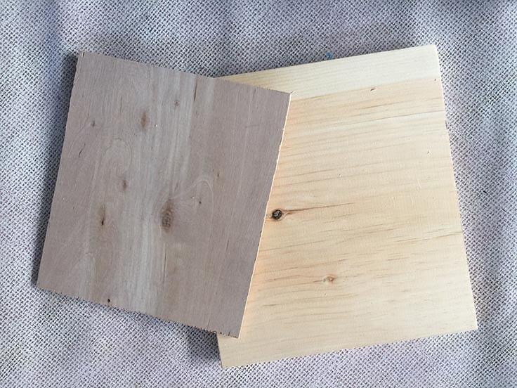 wood for DIY wood clip frames