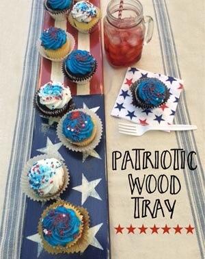 Patriotic Wood Tray