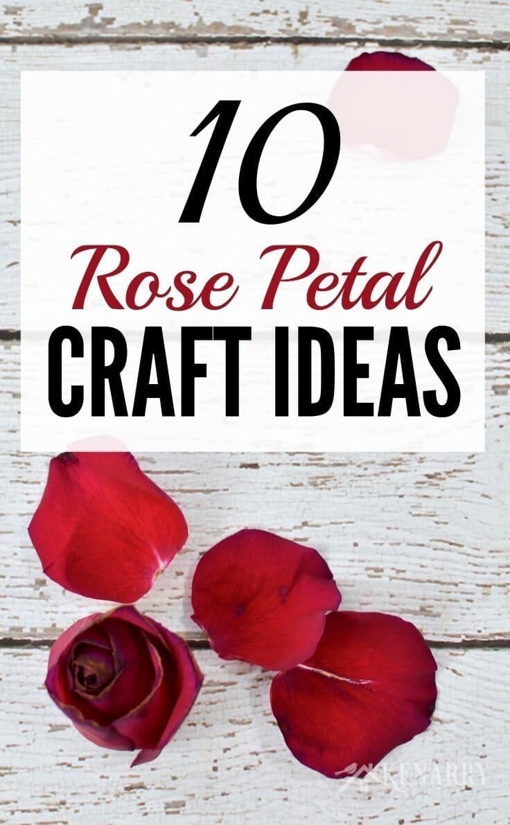 What great ideas to use rose petals from Valentine's Day, a wedding or an anniversary to create crafts or special keepsakes!
