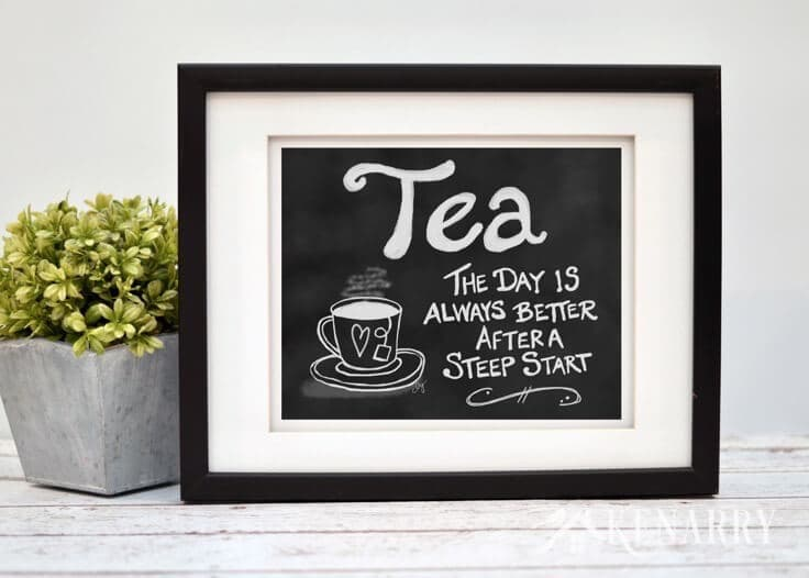 This digital printable tea wall art would look so cute hung as kitchen prints, near a dining room or above a coffee bar to showcase your favorite hot beverage.