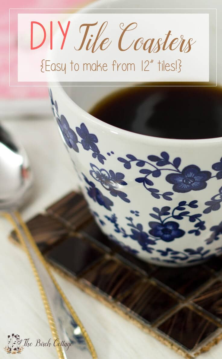 DIY Tile coasters - Easy to make from 12-inch tiles