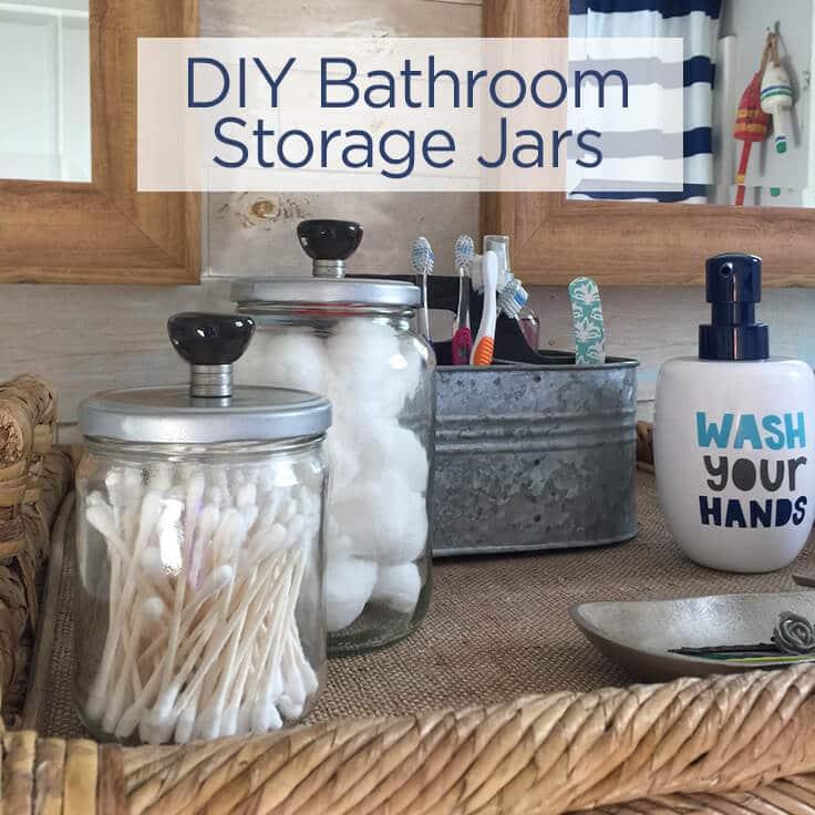 DIY Bathroom Storage Jars