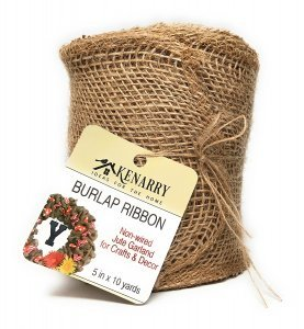 """Ideas for the Home by Kenarry® 5"""" Wide Burlap Ribbon for Crafts and Decor"""
