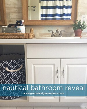 Nautical Bathroom Makeover