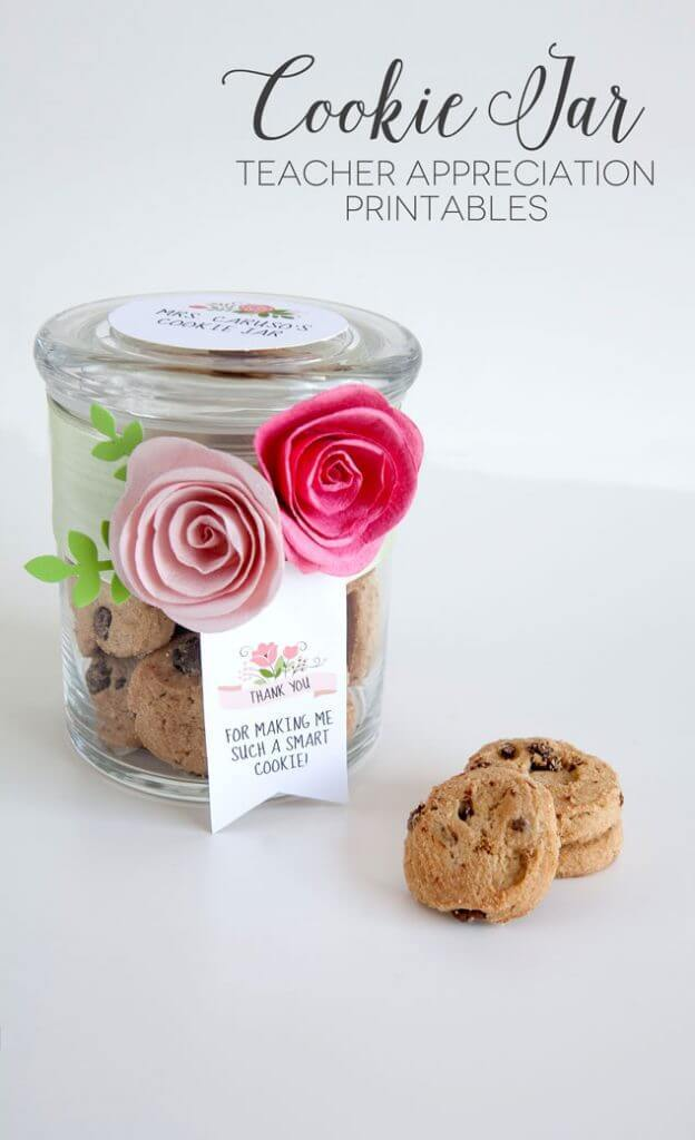Smart Cookie Jar Teacher Appreciation Gift in 10 Minutes (Or Less!) – Frog Prince Paperie - Teacher Gift Ideas featured on Kenarry.com - Teacher Gift Ideas featured on Kenarry.com