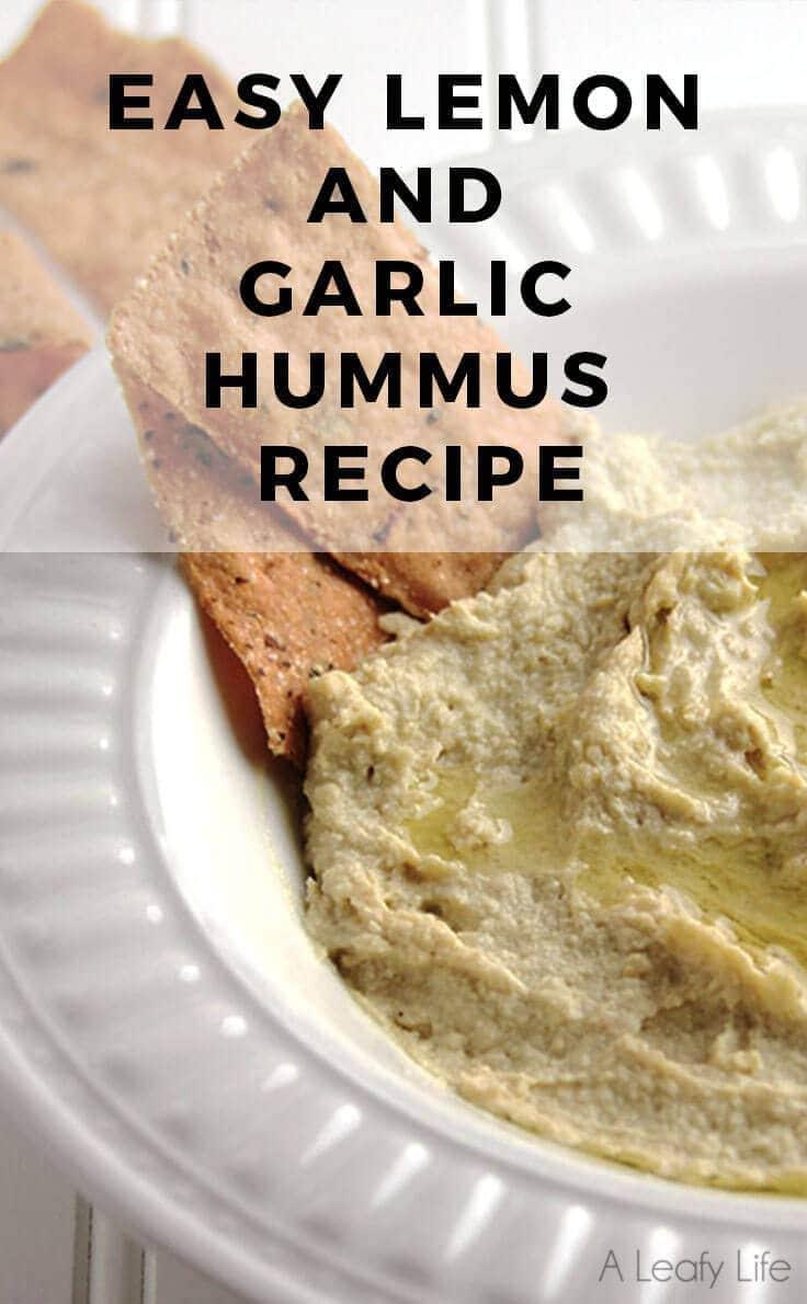 Easy Lemon and Garlic Hummus Recipe