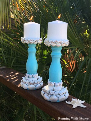 Make your own DIY seashell candlesticks. We'll show you how to paint the shells with Mother of Pearl and add pearls for extra glam! Great shell craft!