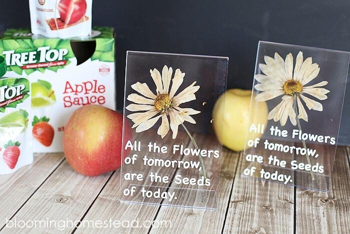 Pressed Flower Teacher Appreciation Gift – Blooming Homestead - Teacher Gift Ideas featured on Kenarry.com