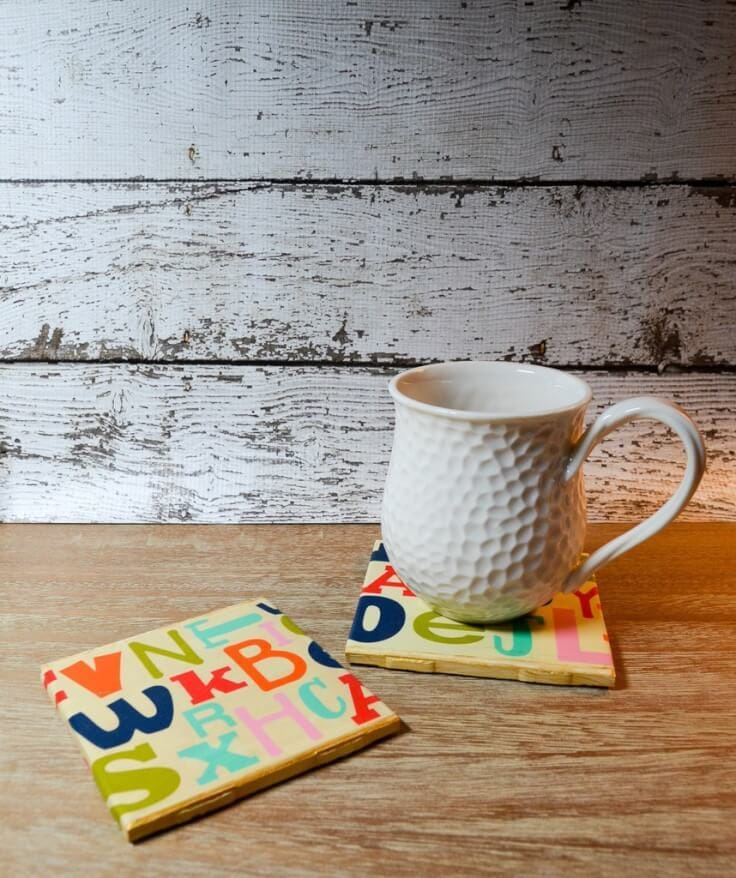 Teacher Appreciation Alphabet Coasters – Albion Gould - Teacher Gift Ideas featured on Kenarry.com