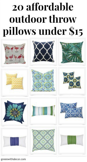 20 affordable outdoor throw pillows under 15