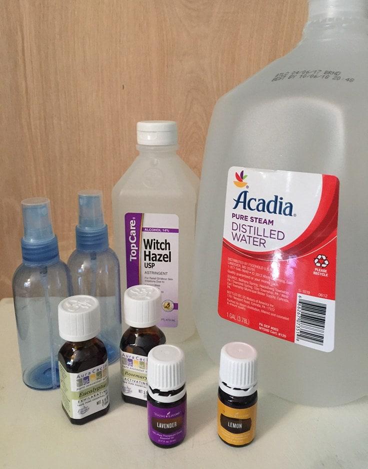 DIY bug spray with essential oils