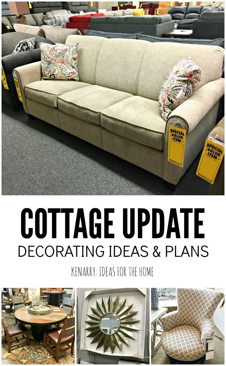 Check out the decorating ideas and plans for our new sunroom and front porch additions on our A-frame cottage.
