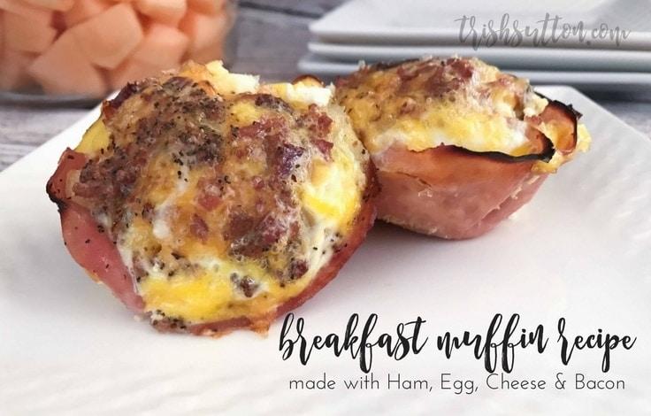 Ham, Egg, Cheese & Bacon Breakfast Muffins Recipe by Trish Sutton