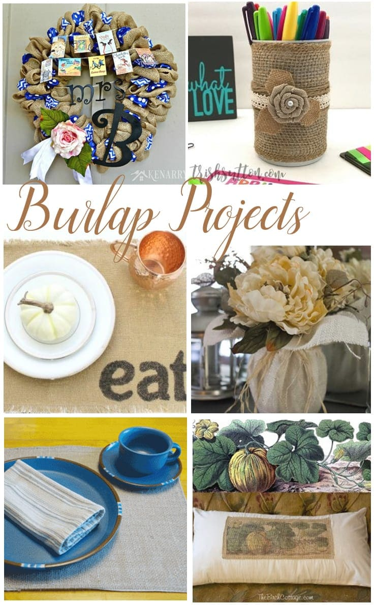 Burlap projects on Kenarry: Ideas for the Hom