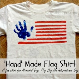 'Hand' Made Flag Shirt, TrishSutton.com